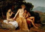 Аполлон, Гиацинт и Кипарис, занимающиеся музыкой и пением