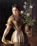 Девушка с горшком роз.jpg